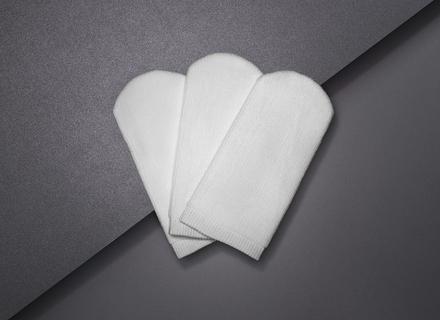 Set of 3 large-size makeup remover gloves