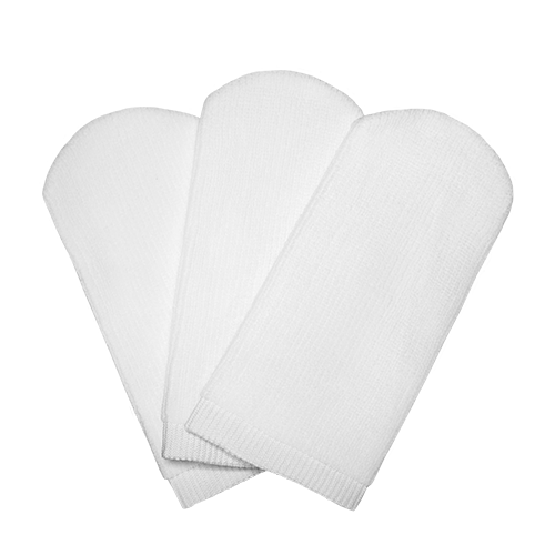 Set of 3 large-size makeup remover gloves
