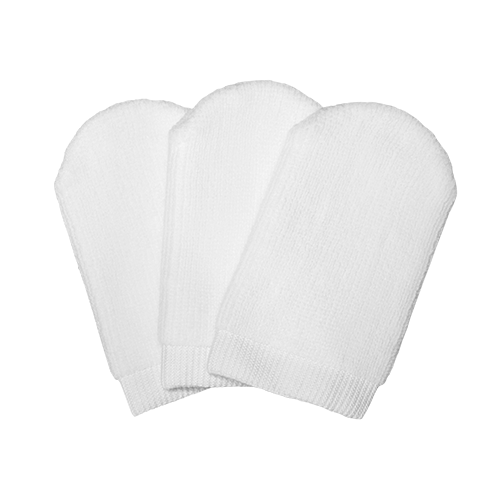 Set of 3 small-size makeup remover gloves